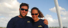 Allen and Daniela on their liveaboard sailboat in Key West 2007.